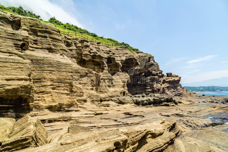 De kust van Jeju royalty-vrije stock foto
