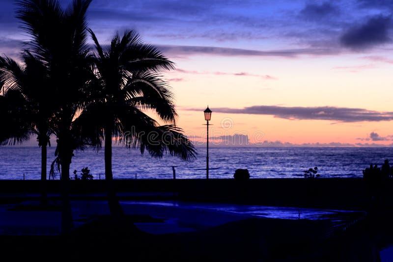 De kust van La Palma van de nacht stock afbeeldingen