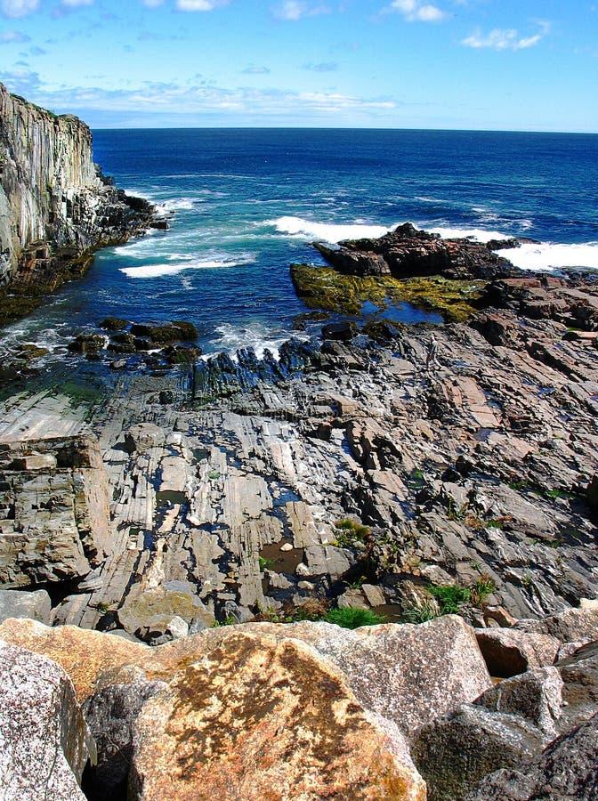 De kust van Maine royalty-vrije stock fotografie