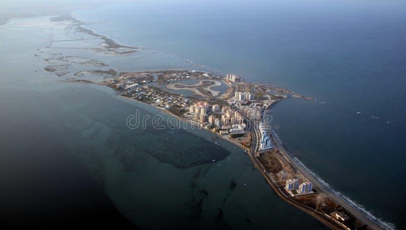 De kust van Murcia stock afbeelding