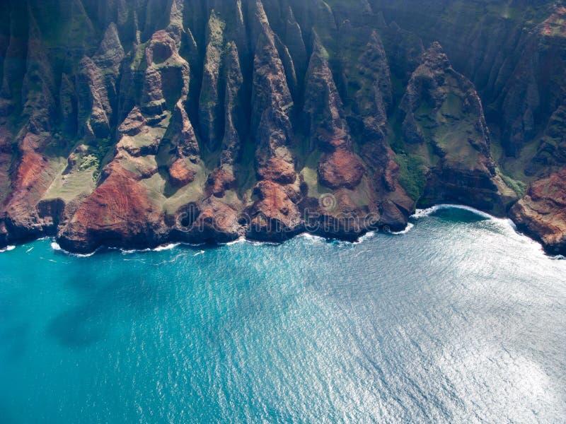 De kust van Na Pali van Kauai stock foto's