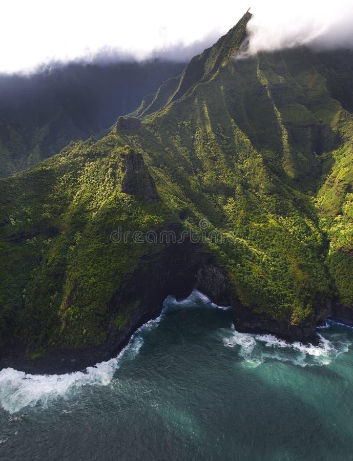 De kust van Napali, Kauai, Hawaï stock foto's