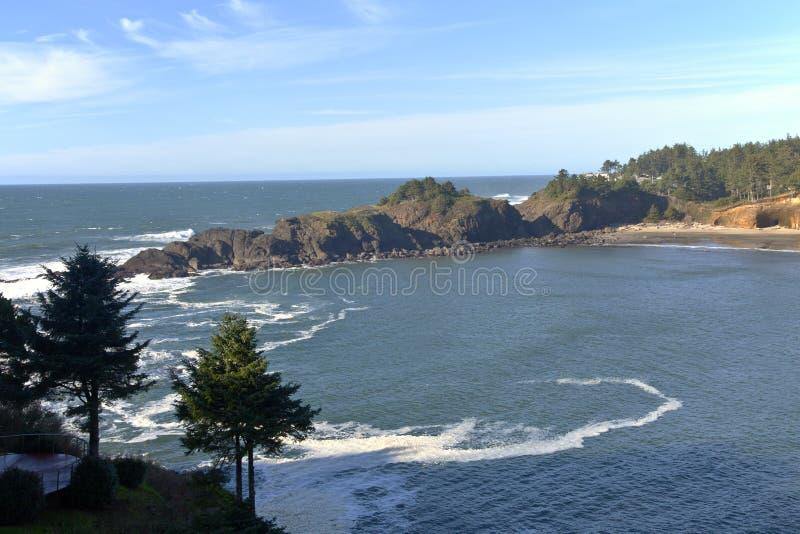 De kust van Oregon dichtbij Lincoln City stock afbeelding