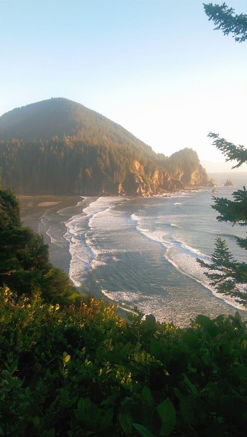 De kust van Oregon overziet stock afbeeldingen