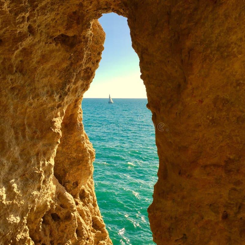 De kust van Portugal Algarve royalty-vrije stock afbeeldingen