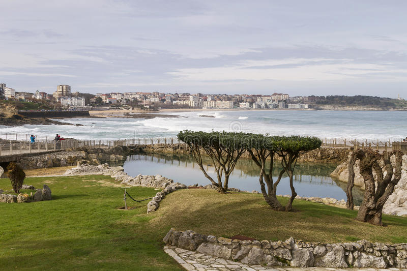 De kust van Santander stock fotografie