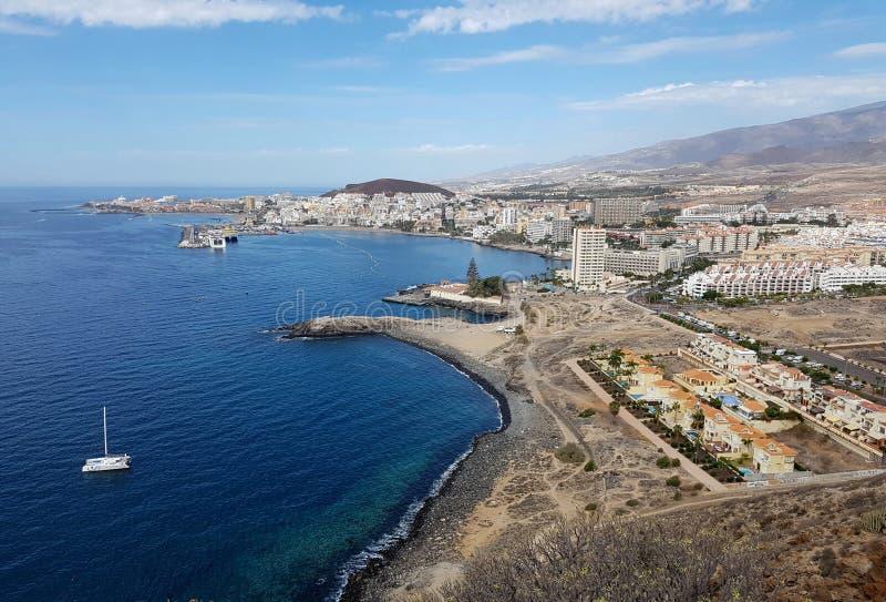De kust van Tenerife van hierboven stock foto