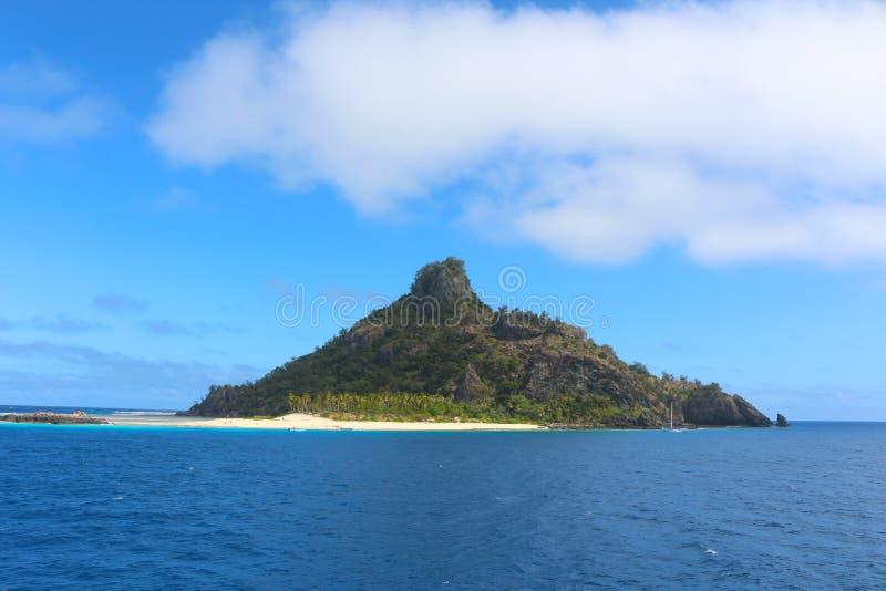De kusten van een tropisch eiland, Fiji royalty-vrije stock fotografie