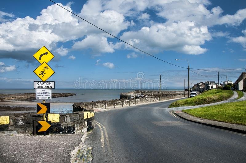 De kusthavenweg royalty-vrije stock fotografie
