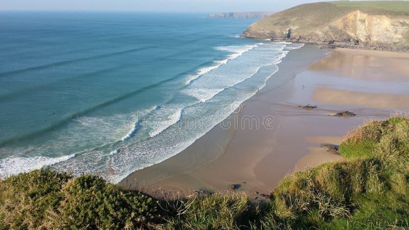 De kustlijn van Cornwall Engeland royalty-vrije stock foto's