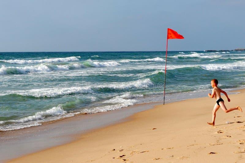 De Kustlijn van de Middellandse Zee van Israël stock afbeelding