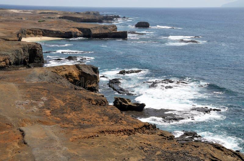 De kustlijn van een Eilandje royalty-vrije stock afbeeldingen