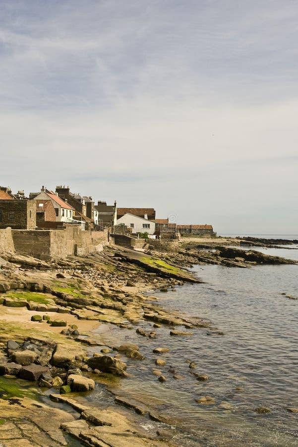 De kustlijn van Fife stock foto