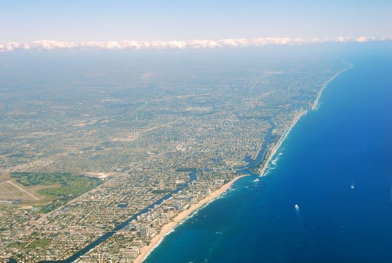 De kustlijn van Florida royalty-vrije stock afbeeldingen