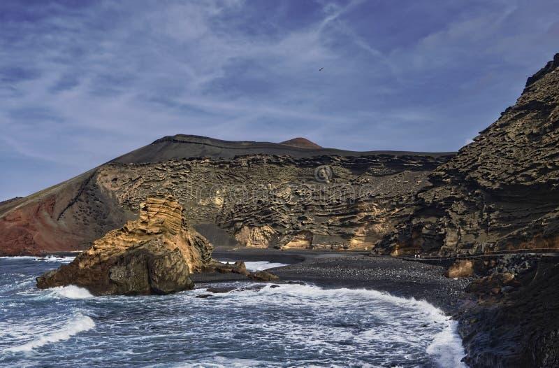 De kustlijn van Gr Golfo stock afbeelding