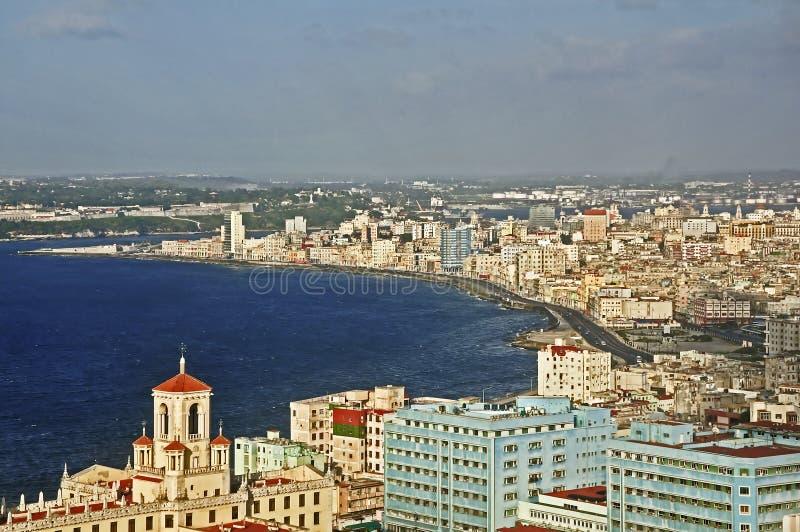 De kustlijn van Havana stock afbeeldingen