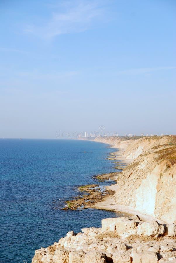 De kustlijn van Israël royalty-vrije stock afbeelding