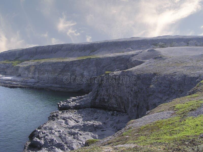 De kustlijn van Labrador stock fotografie