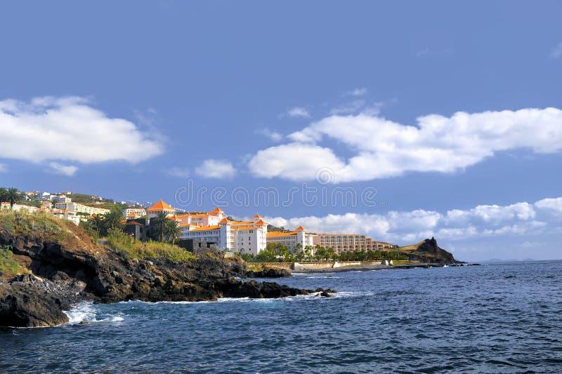 De kustlijn van madera, Canico DE Baixo royalty-vrije stock afbeelding