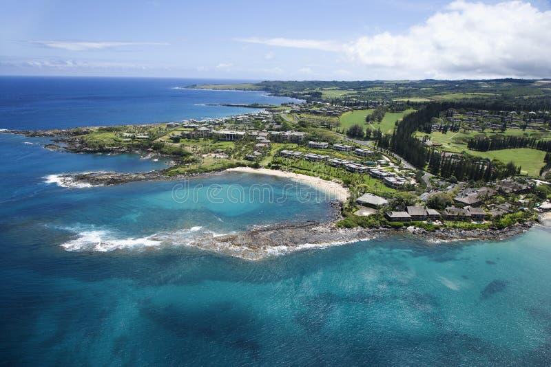 De kustlijn van Maui. stock fotografie