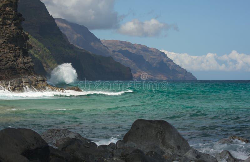 De Kustlijn van Napali van Kauai stock afbeeldingen