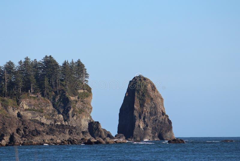 De kustlijn van de staat van Washington royalty-vrije stock foto