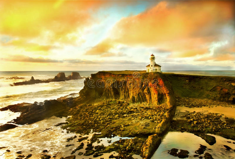 De kustportret van Oregon stock afbeeldingen