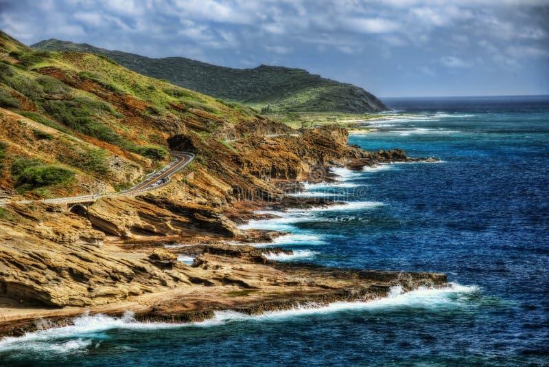 De Kustweg en Vuurtoren van Hawaï royalty-vrije stock foto's