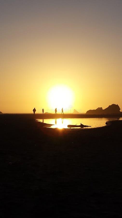 De kustzonsondergang van Oregon royalty-vrije stock foto