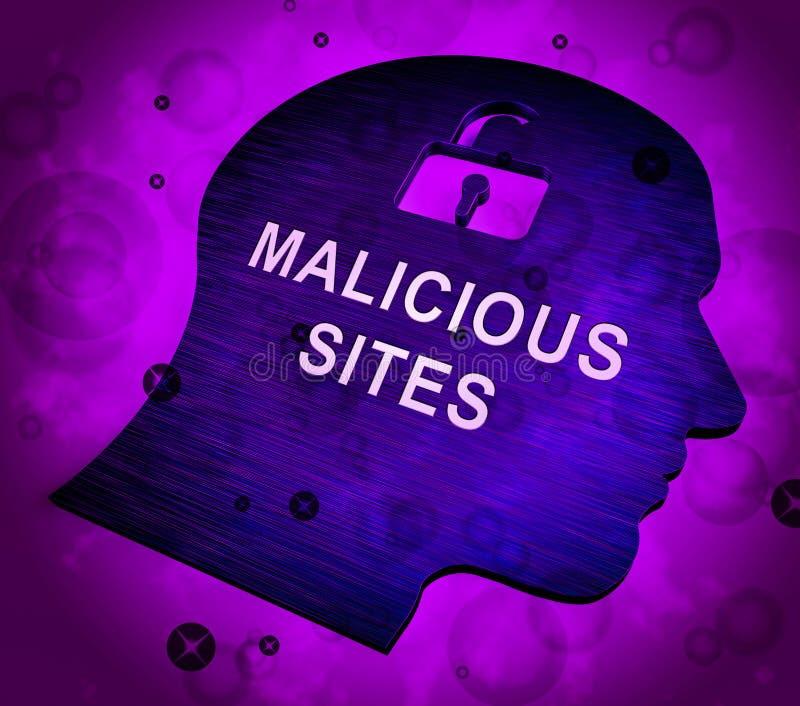 De kwaadwillige Besmetting die van de Plaatswebsite het 3d Teruggeven waarschuwen royalty-vrije illustratie