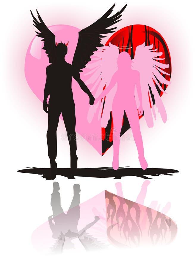 De kwade liefde van de engel stock illustratie