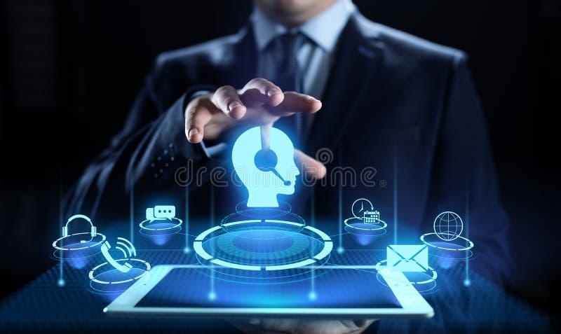 De Kwaliteitsborging van de bedrijfs steunklantenservice Technologieconcept stock illustratie