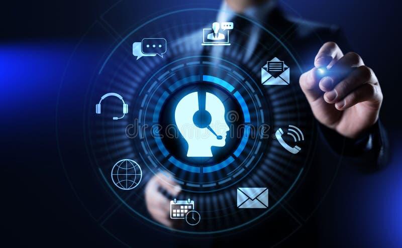 De Kwaliteitsborging van de bedrijfs steunklantenservice Technologieconcept royalty-vrije illustratie
