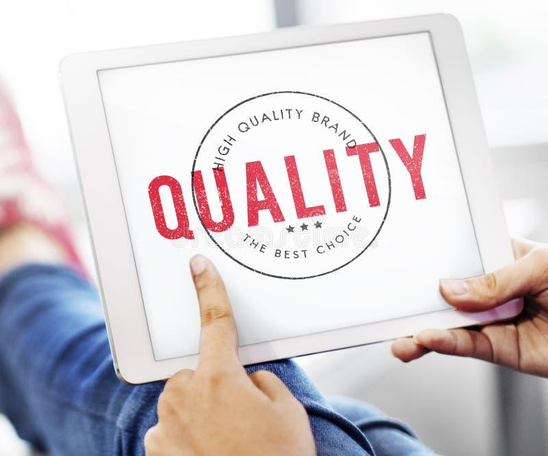 De Kwaliteitsconcept van de kwaliteits de Dienst Gewaarborgd Premie stock foto