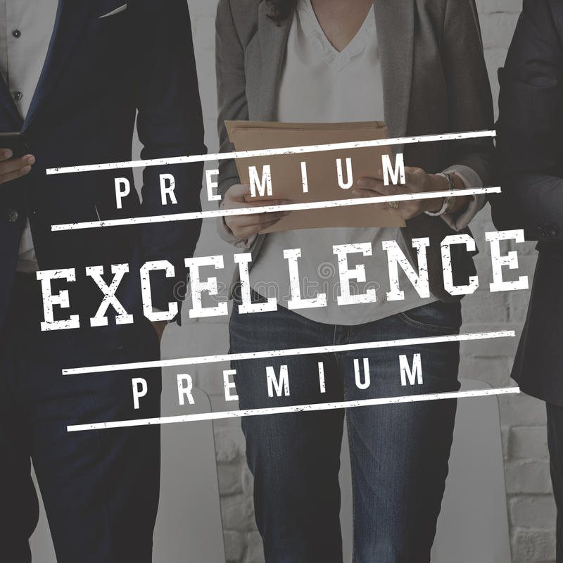 De Kwaliteitsconcept van de kwaliteits de Dienst Gewaarborgd Premie royalty-vrije stock afbeeldingen