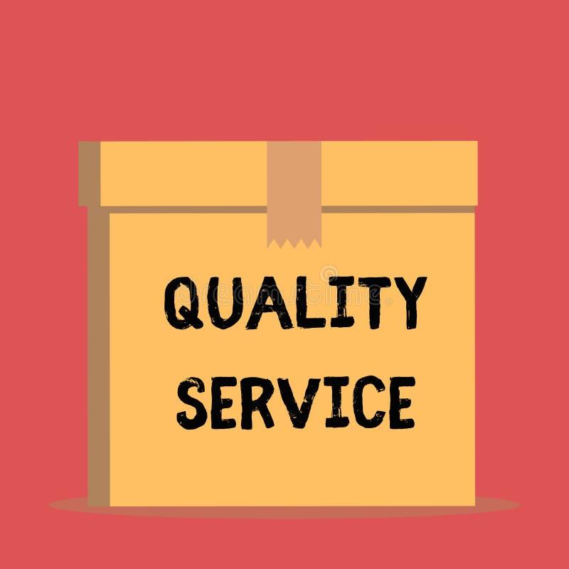 De de Kwaliteitsdienst van de handschrifttekst Concept die hoe goed betekenen is de geleverde dienst met clientexpectations Dicht stock illustratie