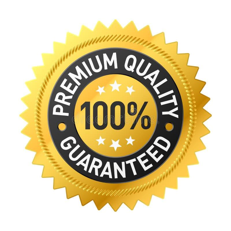 De kwaliteitsetiket van de premie stock illustratie