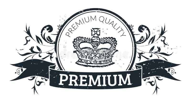 De kwaliteitszegel van de premie stock illustratie