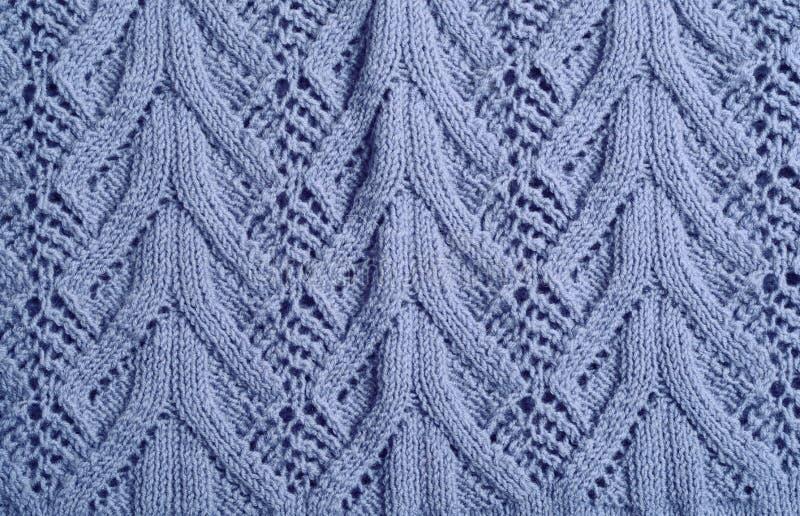 De lã feito malha azul fotografia de stock royalty free