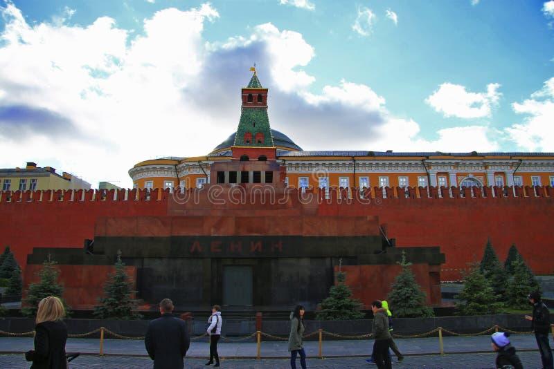 ` De Lénine s Thomb sur la Fédération de Russie de Moscou de place rouge images libres de droits