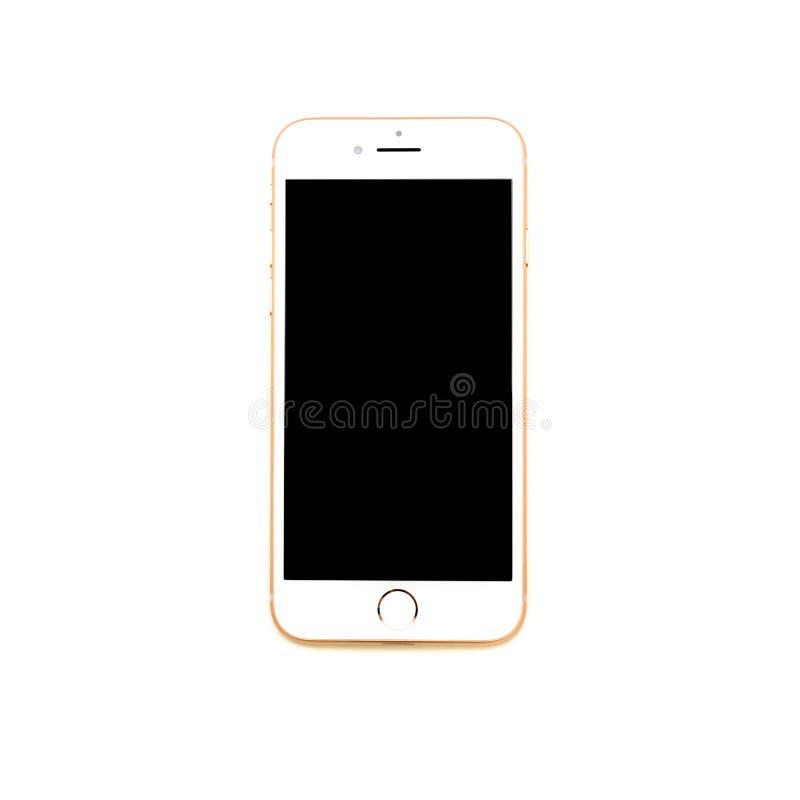 or de l'iPhone 8 fini d'isolement photo libre de droits
