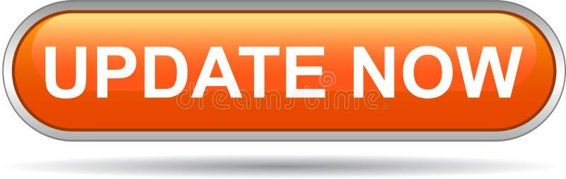 De la actualización botón del web ahora stock de ilustración