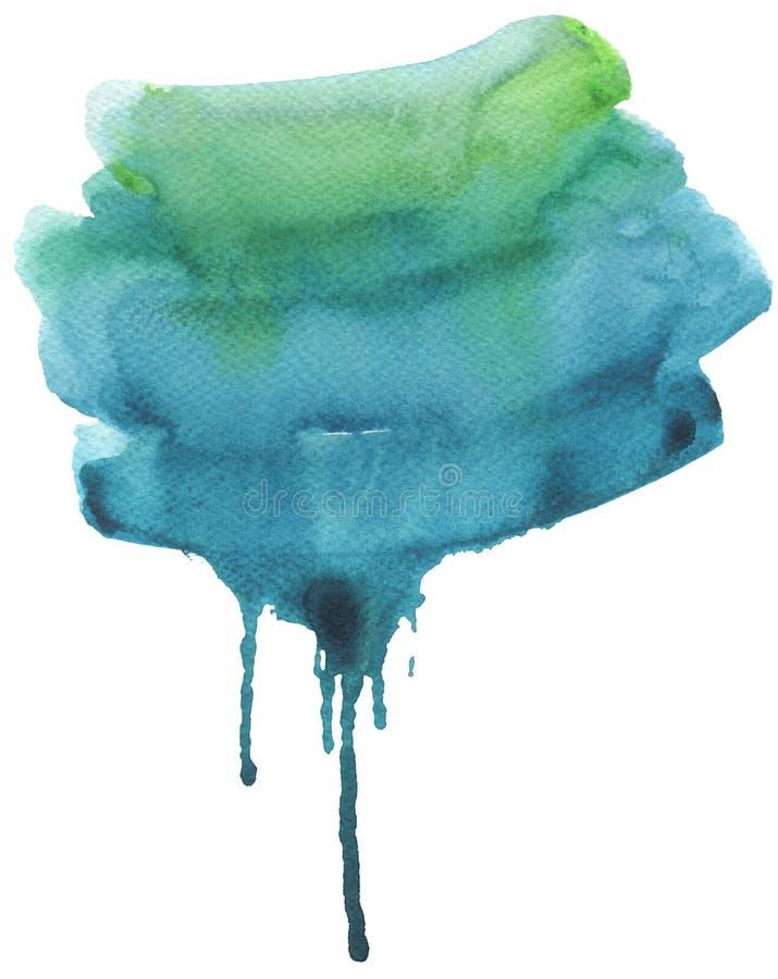 De la acuarela del flujo fondo pintado a mano abstracto abajo libre illustration
