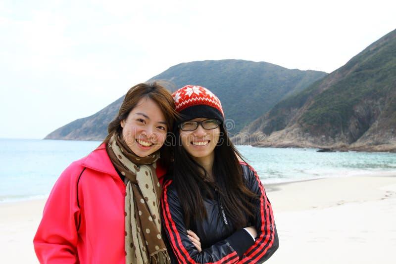 De la amistad concepto por siempre de las muchachas asiáticas imágenes de archivo libres de regalías