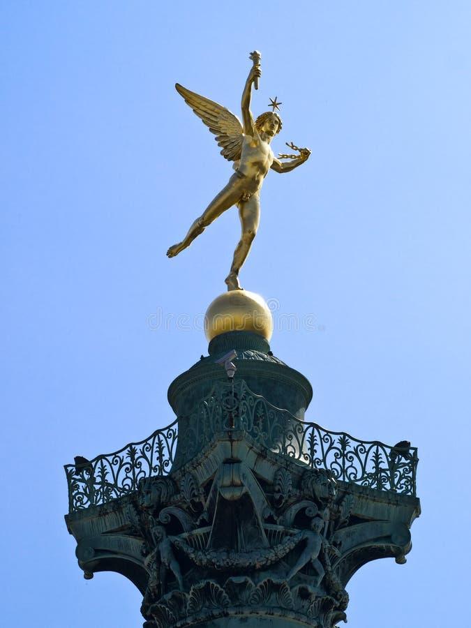 De-La Bastille Statue du Génie lizenzfreies stockfoto
