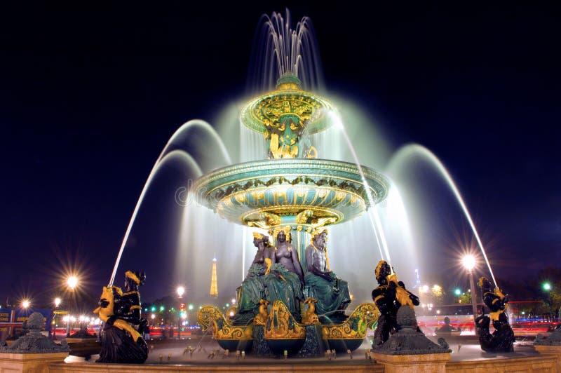 de la concorde Paris miejsce obraz royalty free