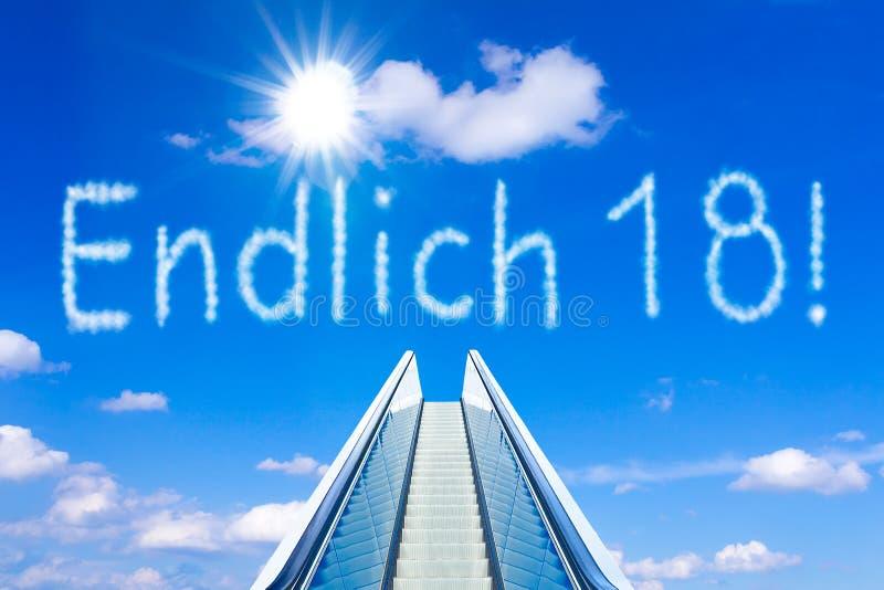 De la escalera móvil del cielo alemán del endlich 18 finalmente foto de archivo libre de regalías