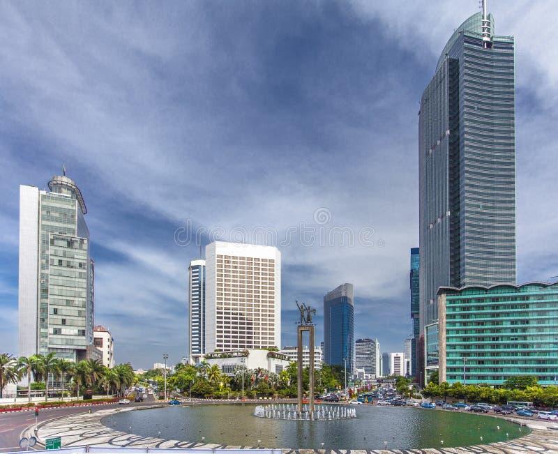 De la estatua centro de la ciudad agradable de Jakarta - la capital adentro de Indonesia foto de archivo libre de regalías