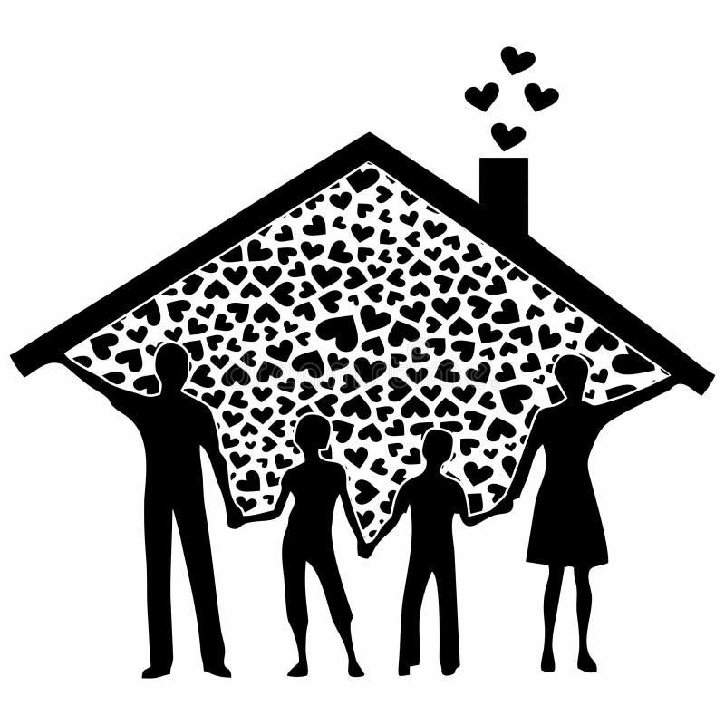 De la familia terraplén del negro por completo libre illustration