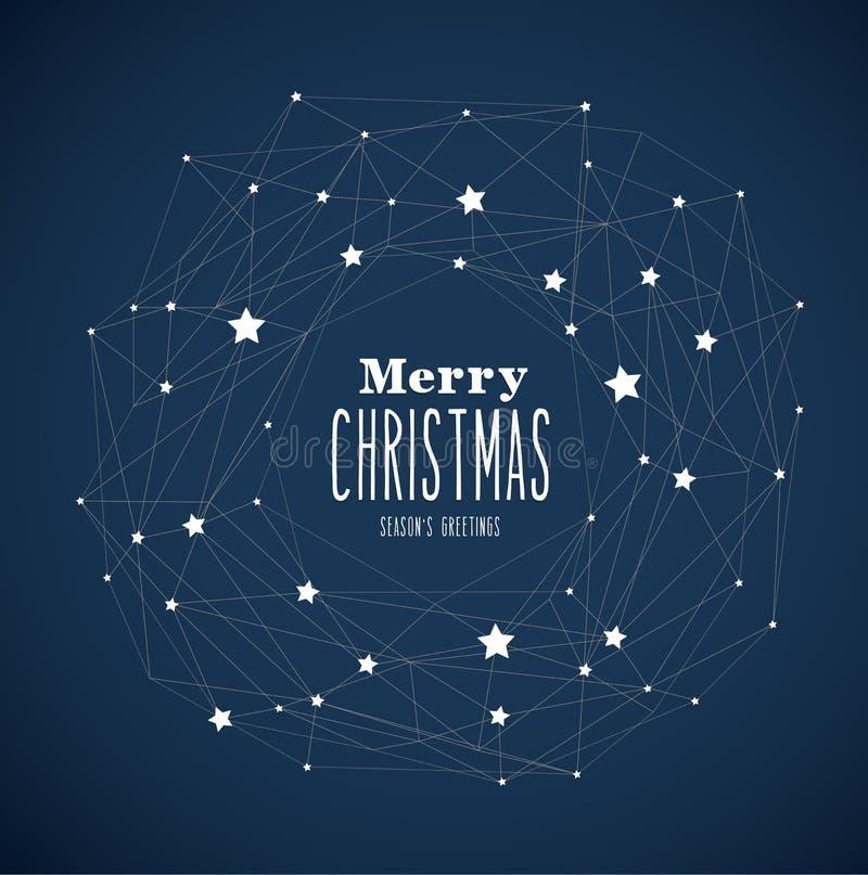` De la Feliz Navidad del ` con las porciones de estrellas en fondo azul marino libre illustration